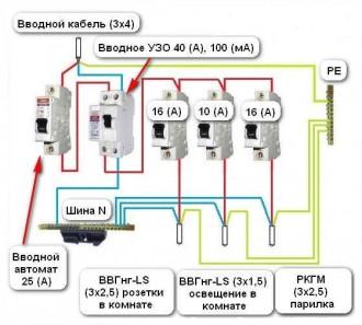 Правильное подключение УЗО и автоматических выключателей