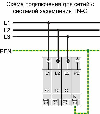 """Указание """"PEN"""" на электросхеме"""