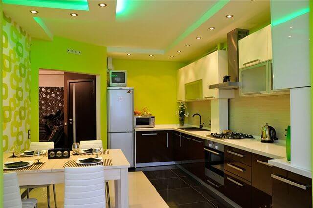 Кухня со светодиодной подсветкой