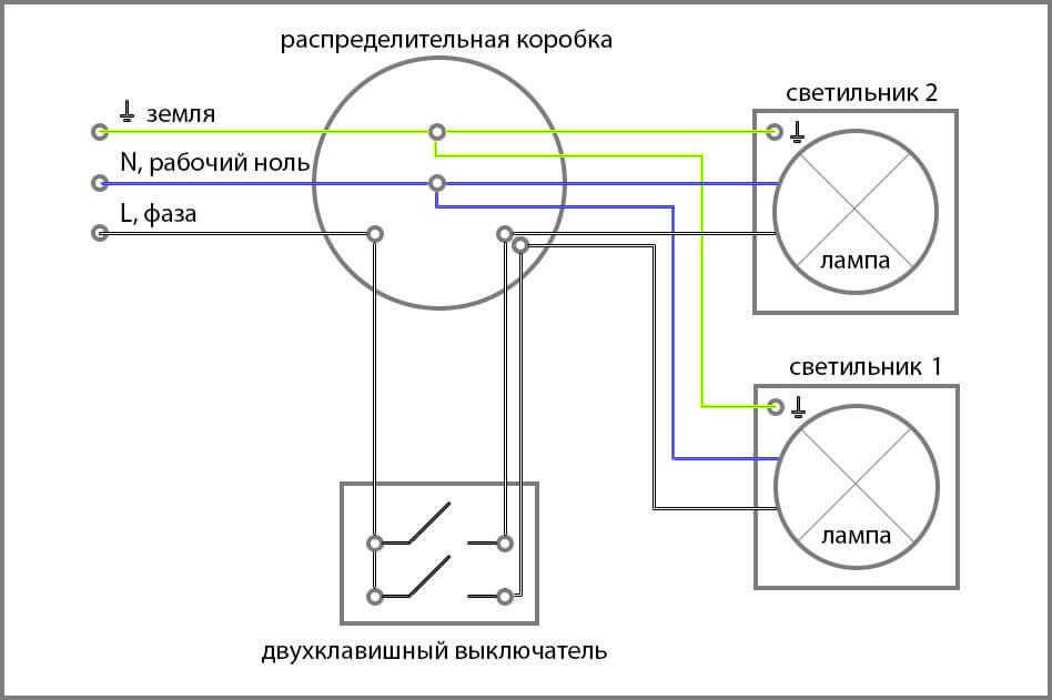 Свет с двумя выключателями схема фото 30