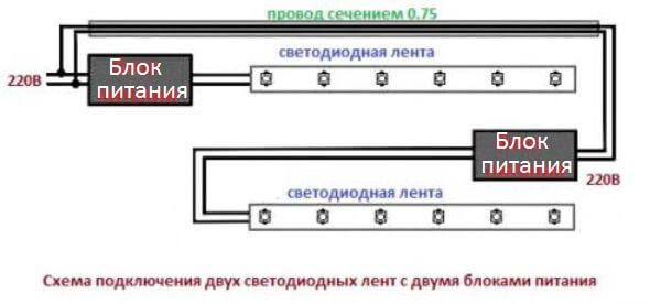 Схема подключения изделия