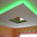 Варианты освещения для натяжных потолков