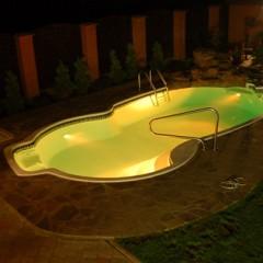 Какой должна быть подсветка бассейна - 15 фото идей