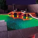 Освещение бассейна: фото, видео, правила выбора светильников