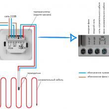 Схема подключения греющего кабеля теплого пола