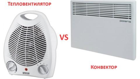 Сравнение тепловентиляторов и электрических конвекторов