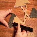 Вторую сторону лепестков закрашиваем маркером