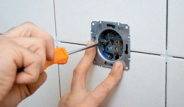 Монтаж проводки в ванной комнате