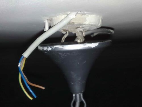 Подключение люстры с помощью ПВС