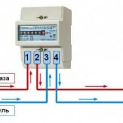 Схема подключения однофазного электросчетчика к сети 220В