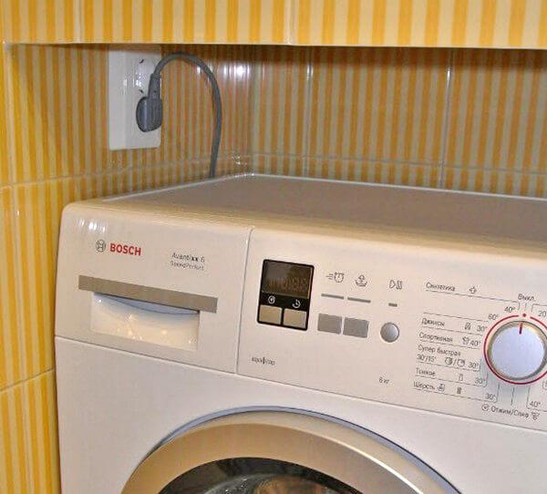 Фото подключение стиральной машины в ванной комнате
