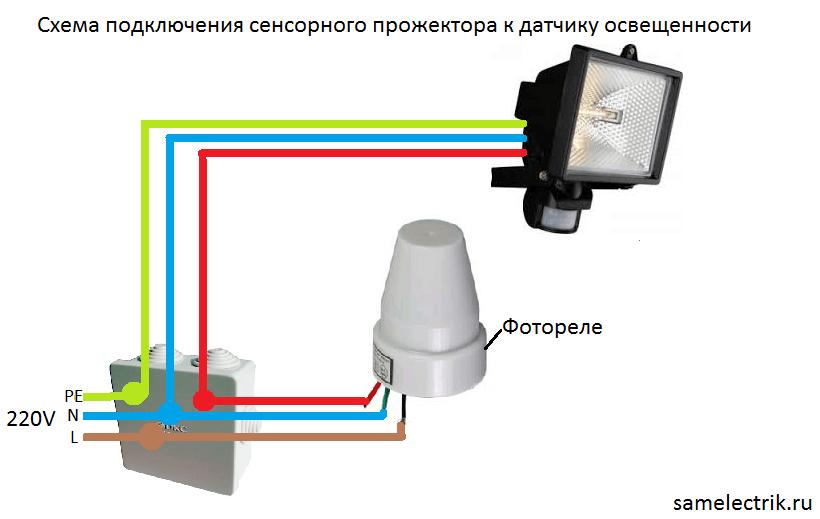 Монтаж фотореле к уличному фонарю