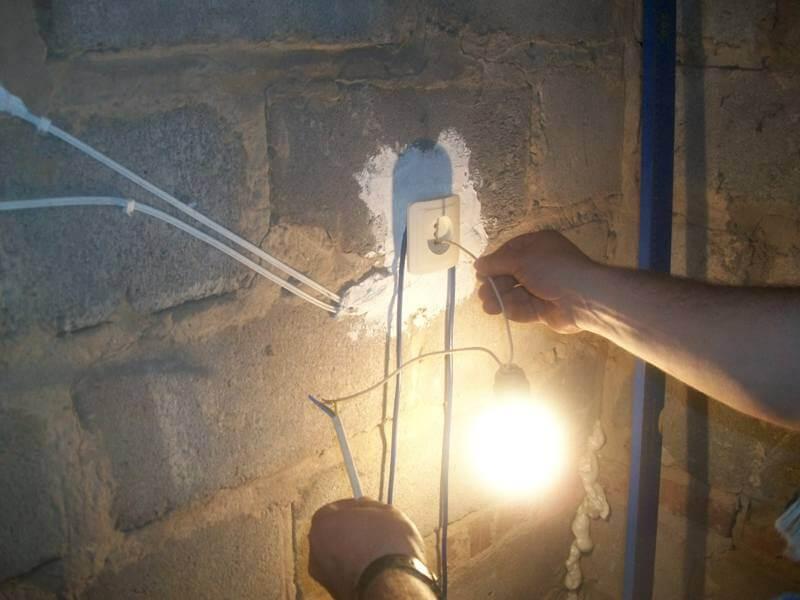 Использование контрольной лампы