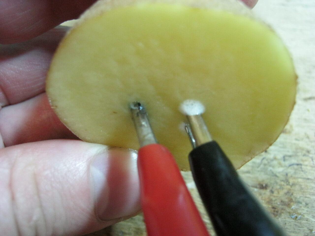 Определение полярности картошкой фото