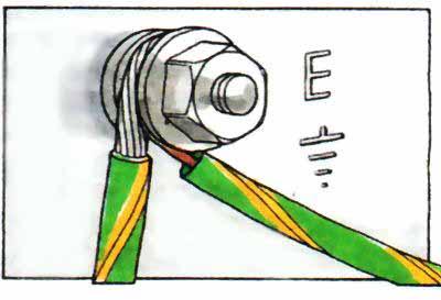 Провод PE на корпусе