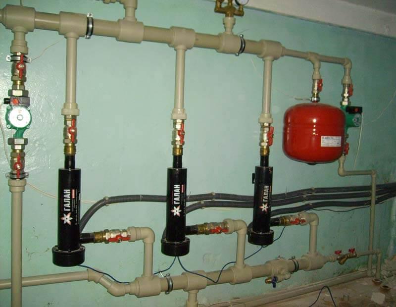 Система из трех электрообогревателей