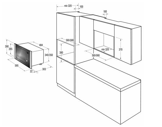 Размеры корпуса и мебели