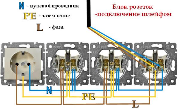 Схема подключения шлейфом