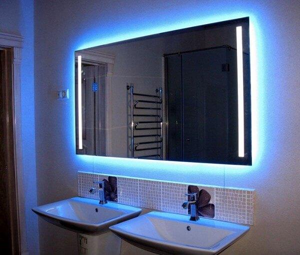 зеркал фото подсветка светодиодная