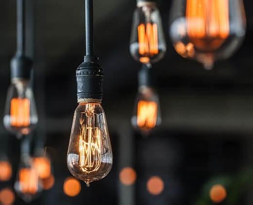 Винтажные лампы в интерьере