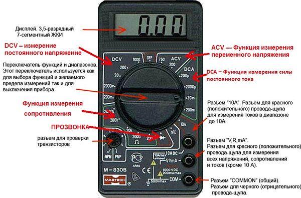 мультиметр инструкция dt-832 на