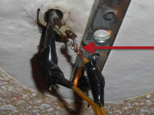 Запрещенная скрутка медных и алюминиевых проводов