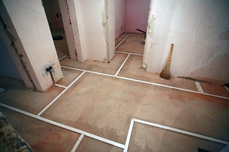 Схема проводки по полу