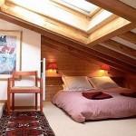 Вариант с очень скошенным потолком