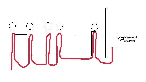 Схема разводки электропроводки по опорам