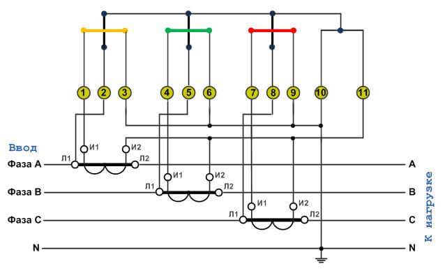 трансформатор схема подключения