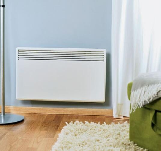 Установка электрического конвектора на стену: нормы и правила
