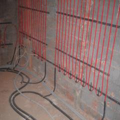 Как сделать электрический подогрев стен?