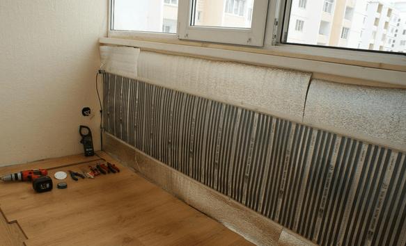 Инфракрасный обогрев балкона