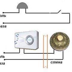 3 возможных схемы подключения дверного звонка