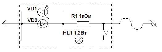 Схема диодной модели