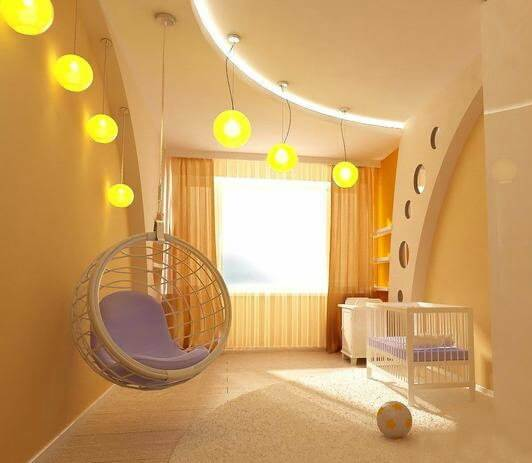 Комбинированное освещение в детской комнате