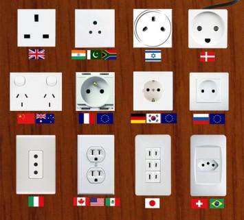 Типы электророзеток различных государств