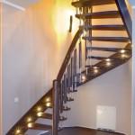 Подсветка ступеней на второй этаж