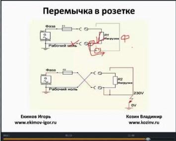 Схема подключения перемычки