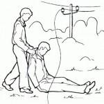 Вытащите пострадавшего, взявшись за сухую одежду