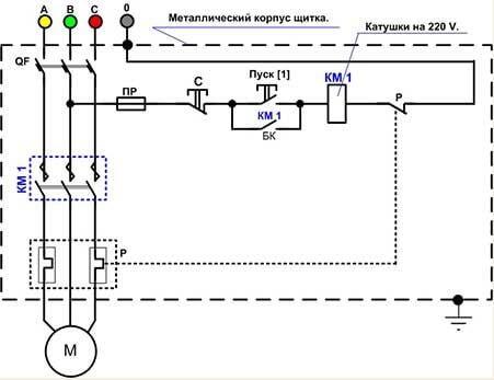Схема магнитного пускателя катушкой фото 942