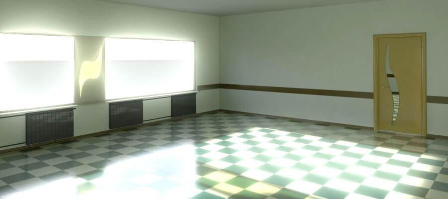 Свет из окон в комнате фото