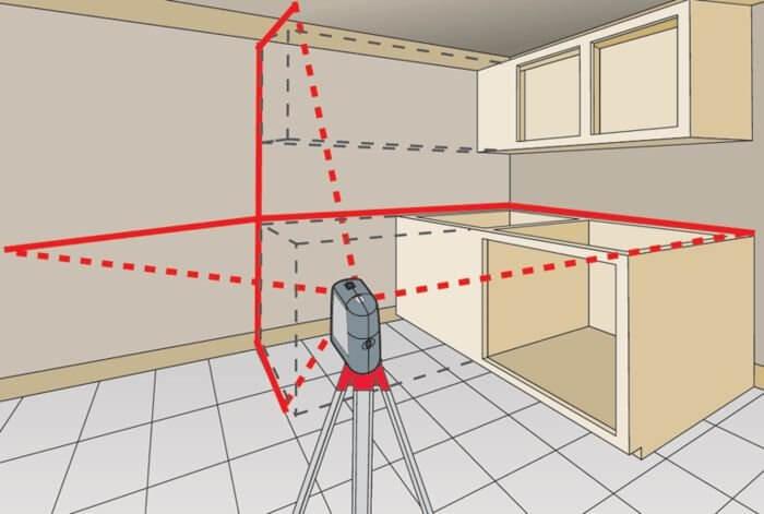 Лазерный уровень отвес маркер Matrix 35006