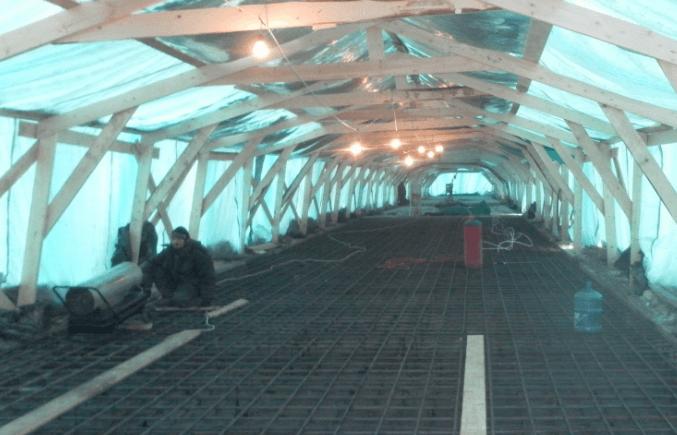 ukrytie betona Как прогреть бетон зимой во время стройки? Фото