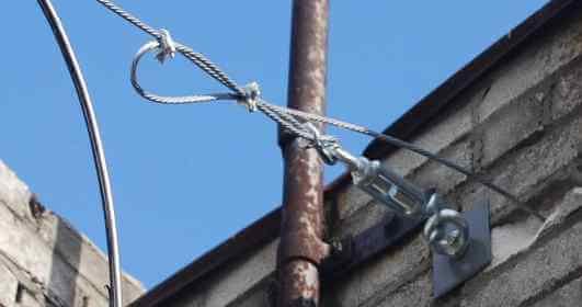 Проведение электросети по воздуху фото