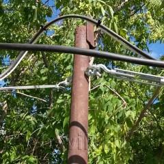 Технология прокладки кабеля на тросе