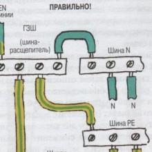 Как разделить PEN проводник согласно ПУЭ?