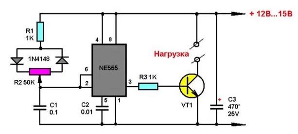 SHIM regulator 5 схем сборки самодельного светорегулятора Фото