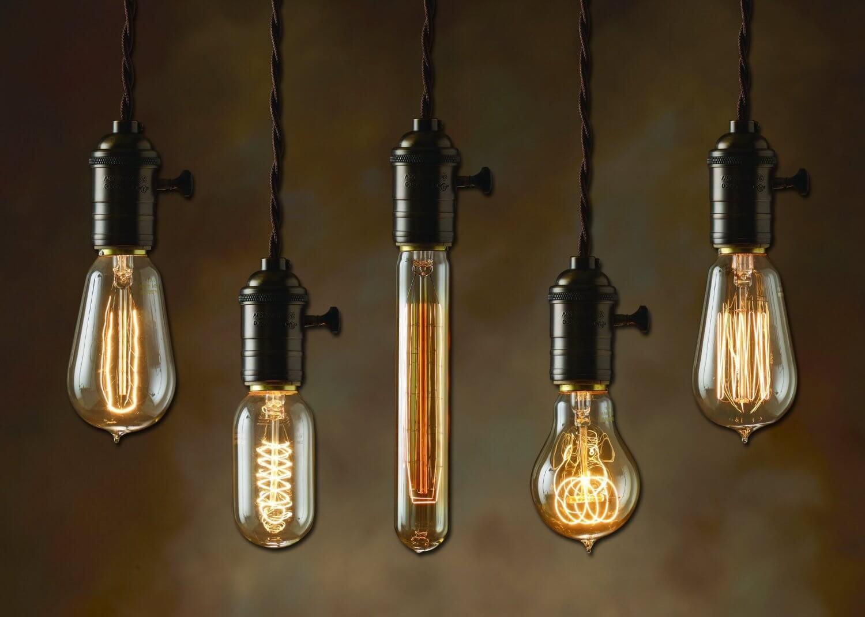 Формы лампочек под старину