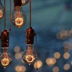 Лампы Эдисона на улице